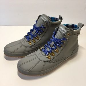 Keds Gray Scout Matte Twill WX chunky Ankle Boots